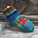 Toe-Up Baby Puzzle Socks pattern