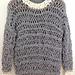 open knit sweater with t-shirt yarn pattern