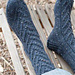 Braided Slipper Sock pattern