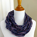 Arm Knit Knotted Cowl pattern