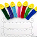 Birthday Candle Applique pattern