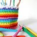 Rainbow Hook & Pencil Cup pattern