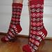 Crimson Tide Socks pattern