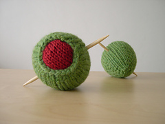 Knit Olives - double martini