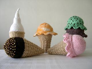 Scooped - Knit Ice Cream Cones