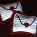 Love Letter Sachet with Heart Applique pattern