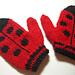ladybug mittens pattern