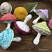 Colorful mushrooms pattern