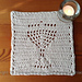 Menorah Eyelet Washcloth pattern