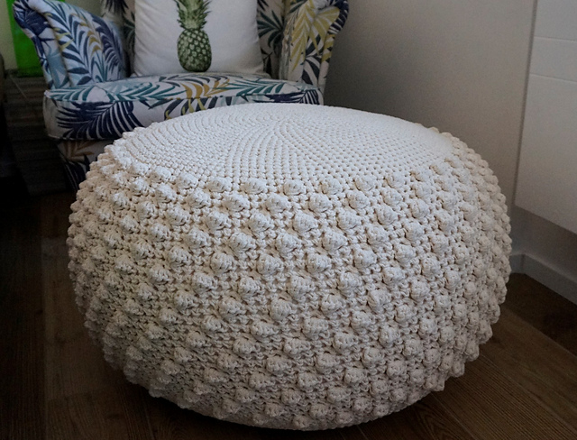 Tremendous Bobble Pouf Ottoman Pattern By Tatiana Zuccala Squirreltailoven Fun Painted Chair Ideas Images Squirreltailovenorg