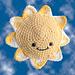 Autism Shines Sunshine pattern