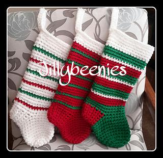 Crochet Christmas Stocking.Ravelry Jillybeenies Christmas Sock Pattern By Jill Harrison