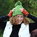 Green Giant Cabled Ski Hat pattern