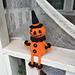 Vintage Inspired Halloween Pumpkin pattern