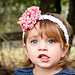 Zoey Headband with Loopy Flower pattern