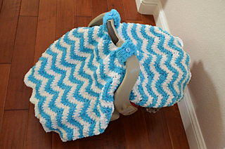 Ravelry Chunky Chevron Car Seat Canopy Cover Pattern By Crochet