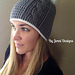 Women's Vertical Cable Beanie with Slouchy Option pattern