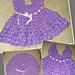 Lilac Ruffle Infant Dress pattern