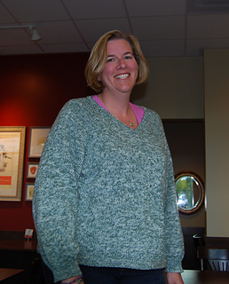 Jill in Green Sweater