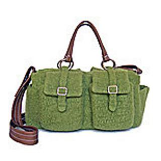 Crochet Felted Tote Bag