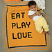 Eat Play Love pattern