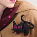 Black Cat Brooch pattern
