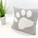 Paw Print Pillow Cover pattern
