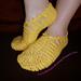 Solar slippers with beads / Солнечные тапочки с бисером pattern