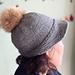 bonnet style hat pattern