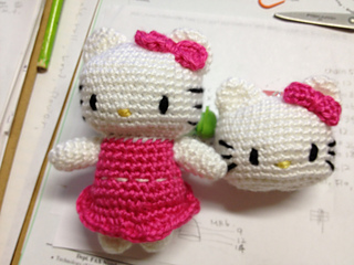 Amigurumi Space-Crochet Hello Kitty Free Pattern | Crochet | Woven ... | 240x320