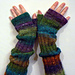 Design 19 Long Ribbed Fingerless Gloves pattern
