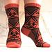 Biohazard Socks pattern