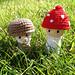 Mushroom Gnome & Toadstool Pixie pattern