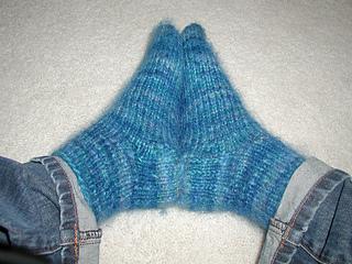 Fuzzy Blue Socks