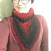 Ribbed Collar Bandanna Cowl pattern