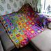 Boho Rainbow Squares Blanket pattern