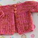 Dianthus Baby Cardigan pattern