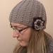 Twisty hat with flower pattern