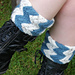 Garter Rib Boot Toppers, with optional beaded picot edge pattern