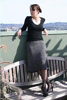 Bell Curve Skirt Long Shot