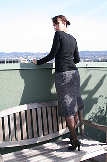 Bell Curve Skirt Back View
