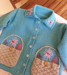 Jill, A Free Baby Cardigan Knitting Pattern