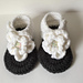 0-3 Month Flower Sandals pattern