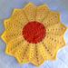 Sunflower Pet Snuggle Blanket pattern