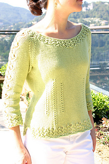 Sorelle Lace-Edged Pullover pattern by Angela Hahn