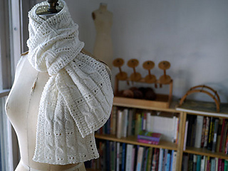 Sky Ladder Scarf and Blanket Knitspot Knitting Pattern