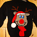 Christmas Novelty Rudolph Reindeer Jumper / Sweater Knitting Pattern #35 pattern