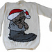 Christmas Cat In Boot Jumper Knitting Pattern pattern