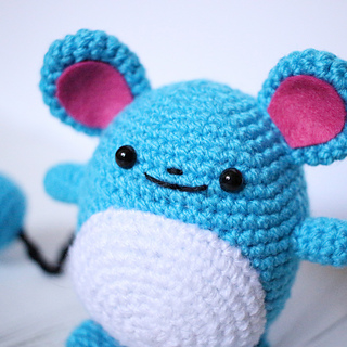 Marill Pokemon Amigurumi Free Crochet Pattern | DailyCrochetIdeas | 320x320