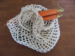 knit veggie bag